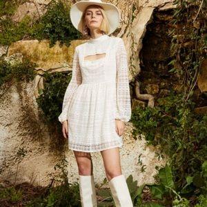 NWT BCBGeneration cream lace dress